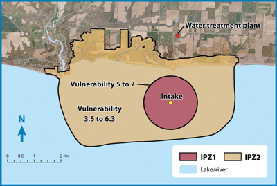Map of a Lake Erie Intake Protection Zone